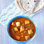 Matar Paneer – Mutter Paneer – Paneer and Peas in Smooth Gravy