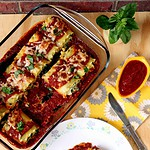 Spinach and Ricotta Cheese Lasagna Roll-Ups