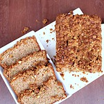 Zucchini Bread with Walnut Crumble Topping – Egg less Zucchini Bread