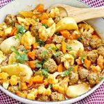 cauliflower, meatballs