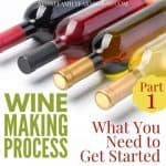 "bottles of wine with the title ""Wine Making Process Part 1 - Stone Family Farmstead"""