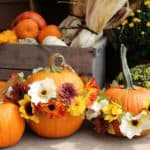 DIY Flower Pumpkins For Fall