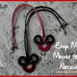Mickey Mouse Washer Necklaces