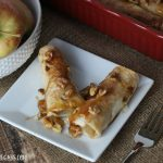 Caramel Apple Walnut Roll-Ups