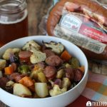 Beer-Braised Kielbasa With Harvest Vegetables
