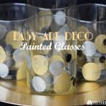 Easy Art Deco Painted Glasses To Celebrate Awards Season