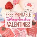 Free Printable Disney-Inspired Valentines