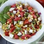 Farm Fresh Tomato, Corn And Basil Salad