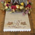 DIY Monogrammed Fall Table Runner