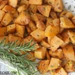 Rosemary Parmesan Sweet Potatoes