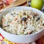 Homemade Apple Raisin Coleslaw