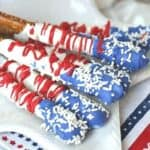 Stars And Stripes Dipped Pretzels