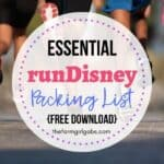 The Essential runDisney Packing List
