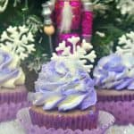 Have a sweet treat this holiday season with these delicious Sugar Plum Fairy Cupcakes. These Nutcracker-inspired treats are perfect for Christmas. #Nutcracker #SugarPlumFairy #Christmas #ChristmasDessert #Cupcakes #ChristmasCookies #Ballet