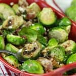 Walnut And Blue Cheese Brussels Sprouts