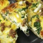 Sausage, Spinach & Feta Frittata