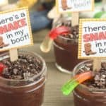 Sheriff Woody Dirt Cups + Toy Story Party Ideas
