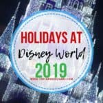 2019 Christmas Season Holiday Magic at Walt Disney World