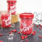 Valentine Candy Mason Jars