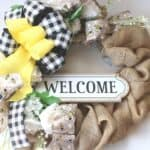 Rustic Farmhouse Welcome Wreath for Spring