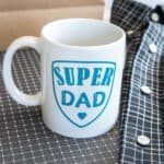 Cricut DIY Super Dad Father's Day Mug