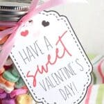 Mason Jar Valentines With Printable Valentine Gift Tags