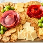 Charcuterie Board With Meat Flowers