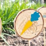 DIY Wood Slice Garden Markers