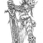 Concept Art for a Troll Death Knight