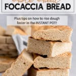 whole wheat focaccia bread stacked