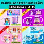 Plantillas tazas para cumpleaños (Psd, PNG, Ai,Cdr) descargar gratis