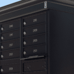 Black decorative cluster box mail unit