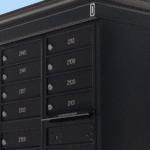 Black decorative cluster box mail unit