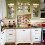 Custom colored finish on kitchen cabinets