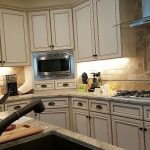 After: kitchen cabinet refinishing