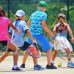 Group tennis lesson for kids 3-7 years old