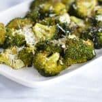 Roasted Broccoli with Parmigiano Reggiano Cheese