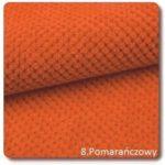 pomarańczowa miękka tkanina na poduszki