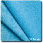tkanina na pufy mikrofaza turkus