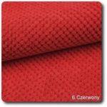 czerwona miękka tkanina obiciowa