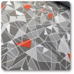 tkanina do ogrodu w trójkąty