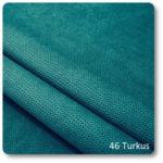 tkaniny na narzuty turkus