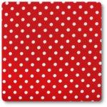 groszki na czerwonym tle tkanina z bawełny