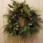 Handmade Evergreen Christmas Wreath made with cedar, eucalyptus and pine