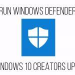 Windows Defender offline in Windows 10 Creators Update
