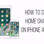 how to set up home sharing on iPhone and iPad