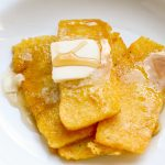 fried cornmeal mush with butter and syrup