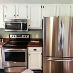 kitchen cabinets after DIY paint