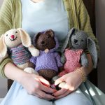 Sonia's knitted stuffed animals