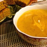 Roasted Red Pepper and Butternut Squash Soup with Pumpkin Cornbread - Zagleft